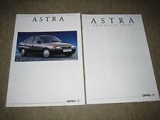 Opel Astra F Limousine Prospekt Brochure von 4/1992, 16 Seiten