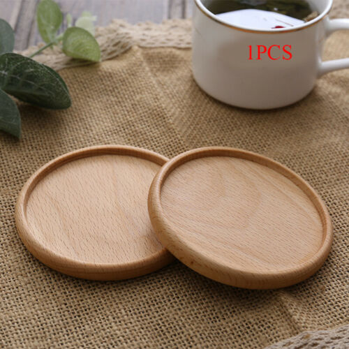 Wood Coasters Placemats Round Heat Resistant Drink Mat Table Tea Coffee Cup Pad