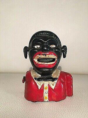 Jolly Nigger Cast Iron Salvadanaio In Ghisa Vintage Rare In Vendita