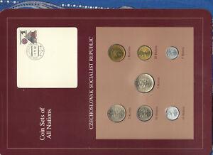 Coin-Sets-of-All-Nations-Czechoslovakia-1976-1981-UNC-5-Korun-1981-2-Korun-1976