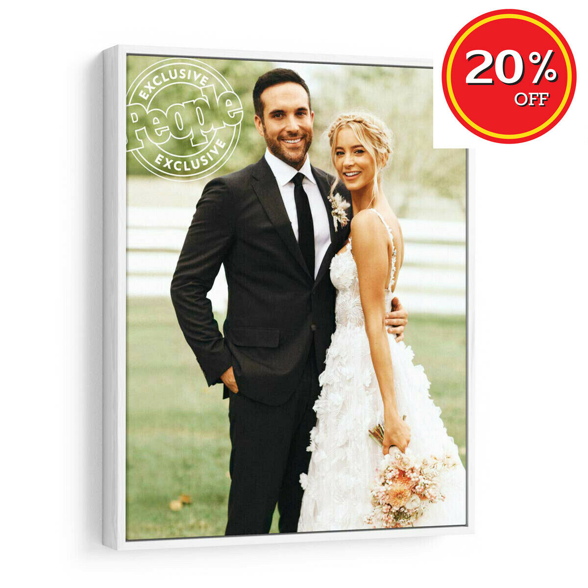 Personalized Photo to Canvas Print with Floater Frame -Wall Art Photo On Canvas