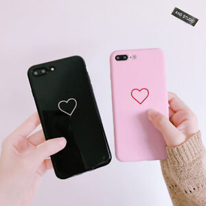 new concept 0562c 72dd0 Details about Glossy Cute Heart Pattern Soft Silicone TPU Case Cover For  iPhone X 8 7 6s Plus