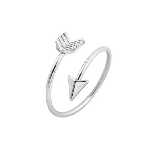 Silver Color Arrow Ring for women Adjustable Engagement Wedding Jewelry