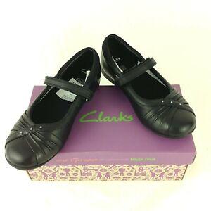 Girls Black Clarks 11 F | eBay