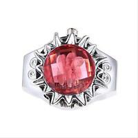Creative Chic Steel Rose Flower Crystal Quartz Finger Stretch Pocket Ring Watch