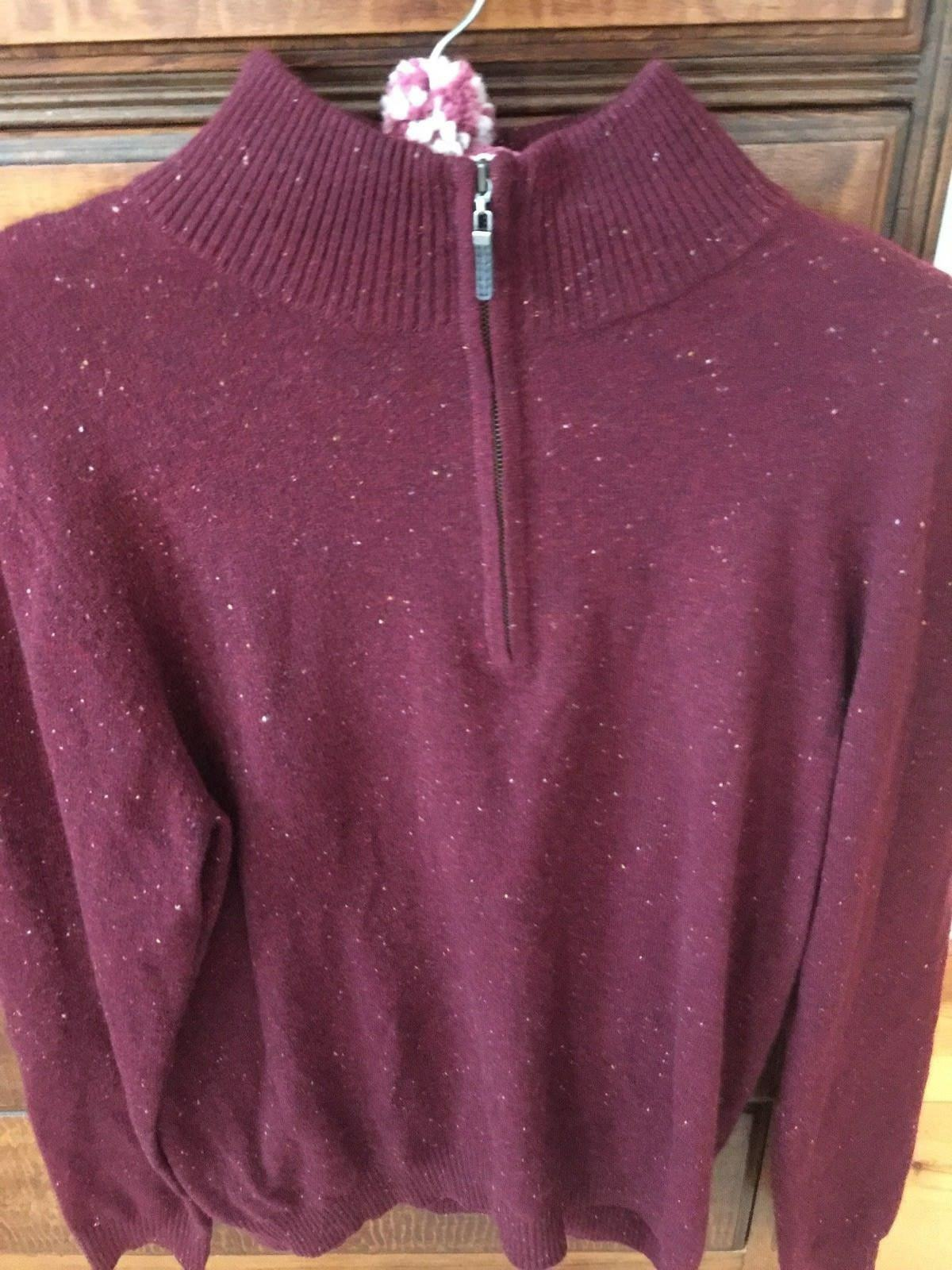 100% CASHMERE HALF ZIP DARTMOOR SIZE LARGE PRE OWNED SWEATER