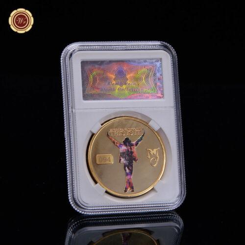 WR Michael Jackson C/'est la pièce commémorative en or 24 carats en dalle
