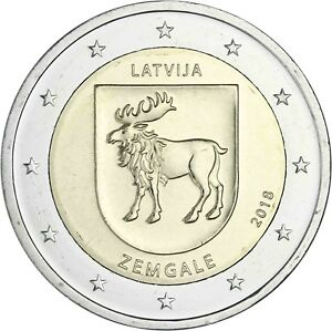 Lettland-2-Euro-2018-Zemgale-Historische-Landschaft-Semgallen-bankfrisch