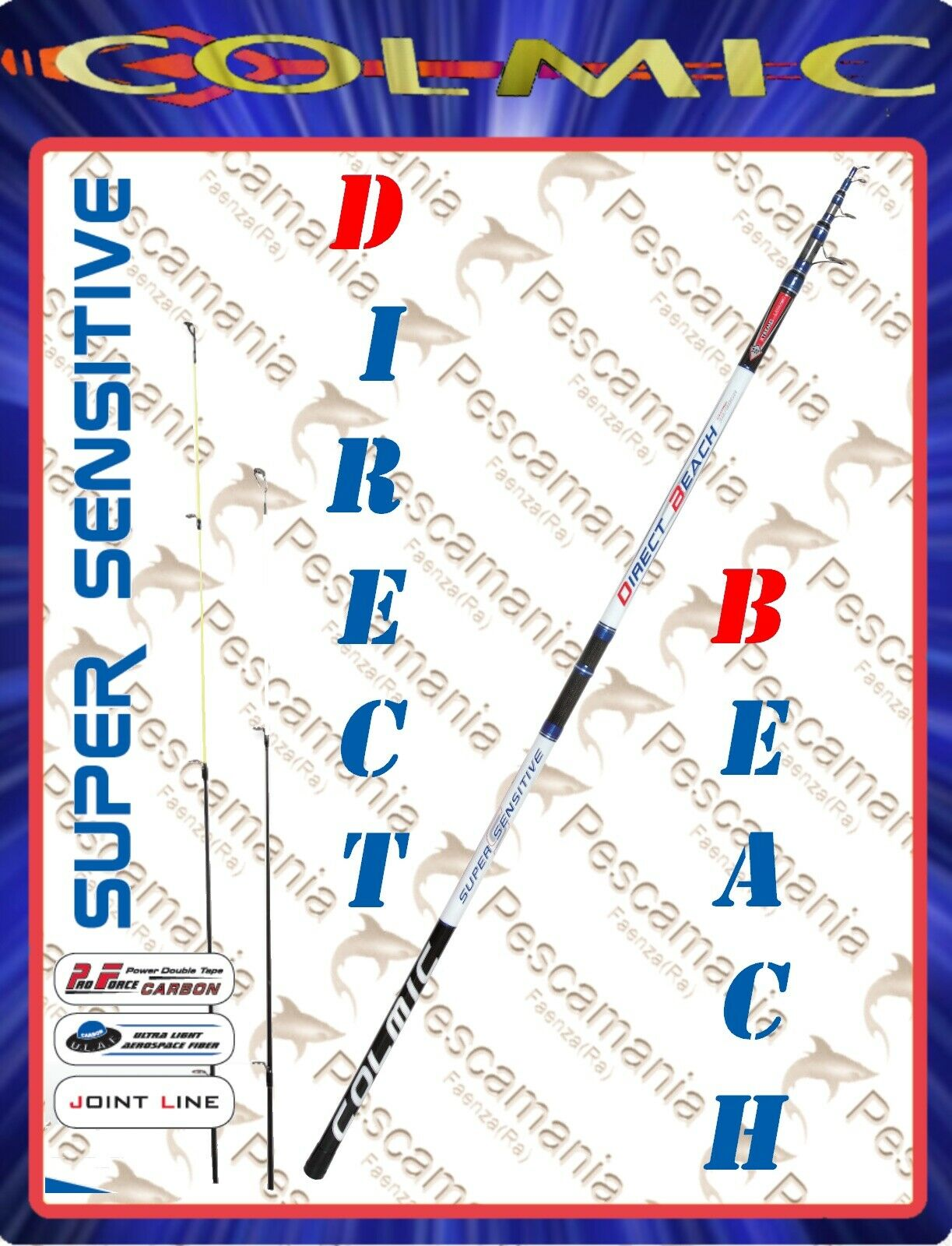 Canna colmic Direct beach ledgering casting 30-80 gr