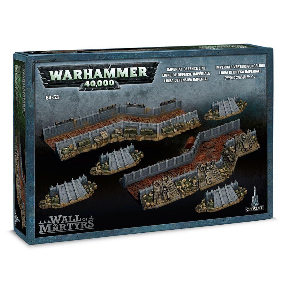 Warhammer 40K Parojo de mártires Paisaje Terreno línea de defensa Imperial