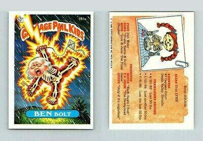 1986 garbage pail kids Original Series 5 Ben Bolt 191a