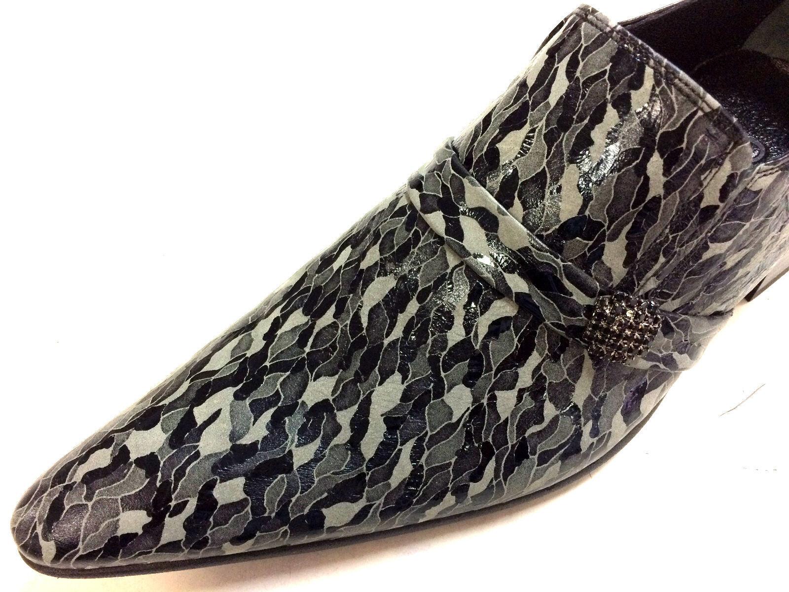 Chelsy Designer Italiano Slipper lavoro manuale Army Green Esercito Verde Mimetico Scarpe classiche da uomo