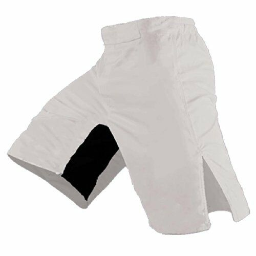 NEW Blank MMA Shorts White 38 FREE SHIPPING