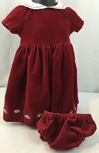 c17d079294ec3 Image is loading Gymboree-Holiday-Fancy-Velveteen-Christmas-Dress-Size-6-
