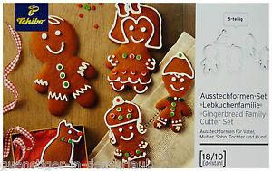 a615ad5dc1a82a Details zu TCM Tchibo Ausstechform 5 tlg Weihnachten Ausstecher  Lebkuchenfamilie Set