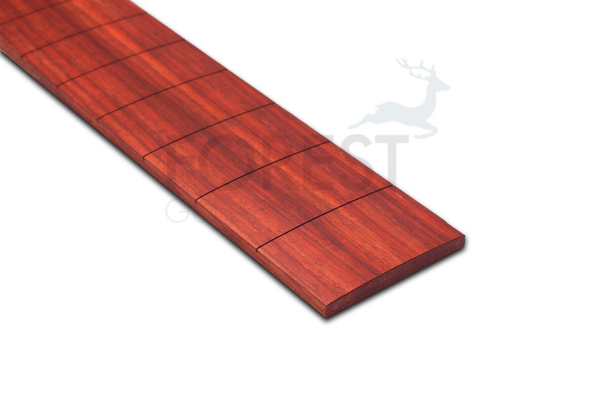 Padouk Guitar Fretboard, Fingerboard 25   Prs Slotted R10