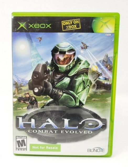 Halo Combat Evolved Microsoft Xbox Original Game Not For Resale Version Variant
