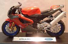 1:18 Aprilia RSV1000R VRS 1000 Mille En Rojo Excelente Modelo! detalle excelente