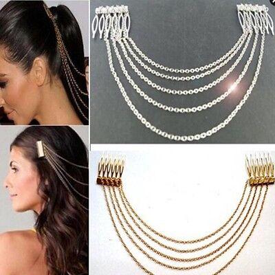 Lady's Fashion Bohemian Metal Tassel Head Chain Jewelry Head Piece Headwear