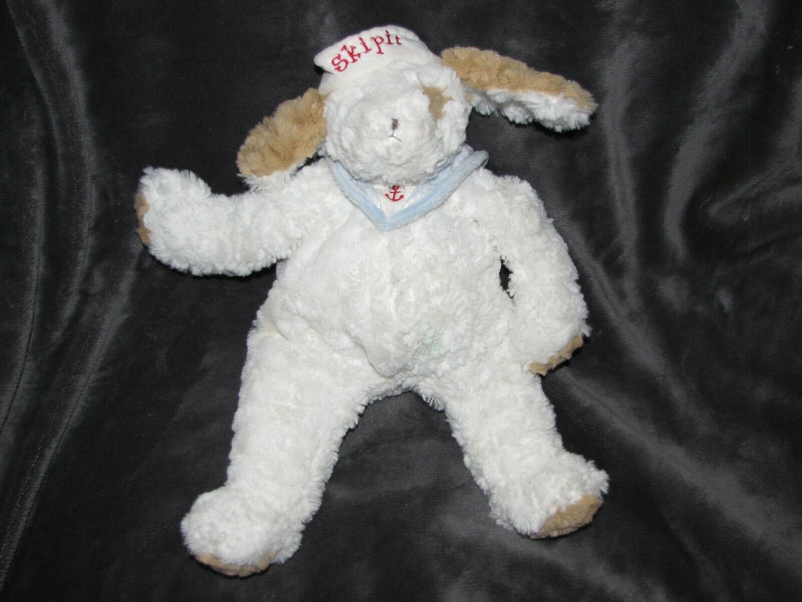 BUNNIES BY THE BAY STUFFED PLUSH SKIPIT PUPPY DOG NAUTICAL SAILOR ANCHOR BEANS