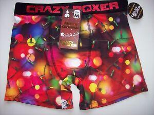 04006945de Crazy Boxer Underwear Mens Boxer Briefs 1 Pr Lights Graphic S M L XL ...