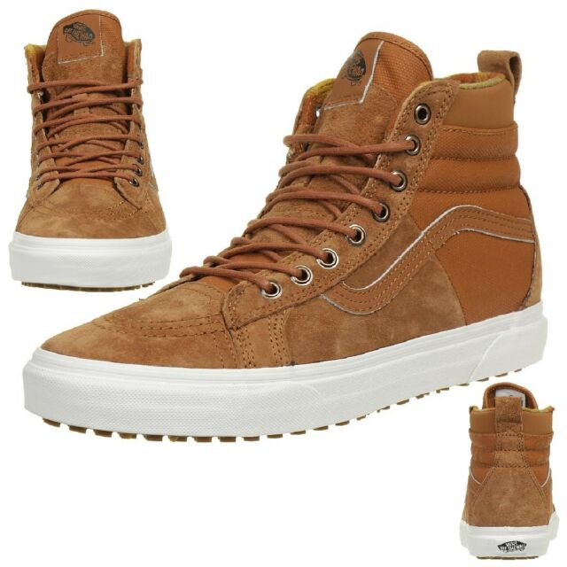 1123cd55468b9e Vans Classic Sk8-hi 46 MTE Dx Winter Trainers Shoes Leather Scotchgard Brown