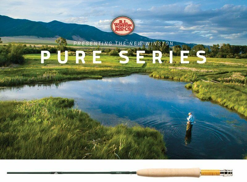 NEW WINSTON PURE 7' FOOT  2 WEIGHT 4 PIECE FLY ROD FREE  100 FLY LINE