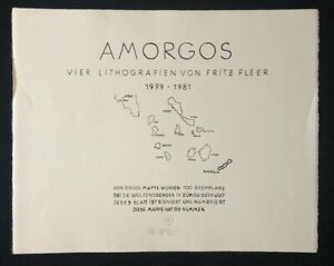 Fritz FLEER, Amorgos serie, litografie, 1979-1981, firmati e numerati