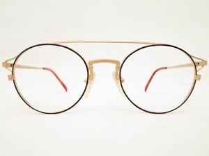Vintage-Flair-top-ten-49-20-Brillenfassung-rund-gold-DAMEN-Brille-NEU-80er-TREND