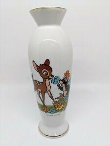 Vintage Bambi & Baby Skunk Porcelain Flower Vase Walt Disney Productions ~1970??