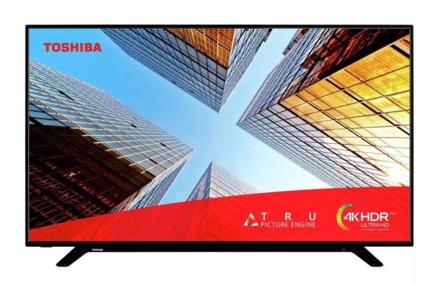 "Toshiba 55UL2063DB 55"" SMART 4K Ultra HD HDR LED TV Freeview Play Black C Grade"