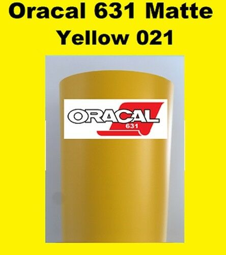"""24/"""" x 10 FT Roll Yellow Glossy Oracal 651 Vinyl Adhesive Cutter Plotter Sign 021"""