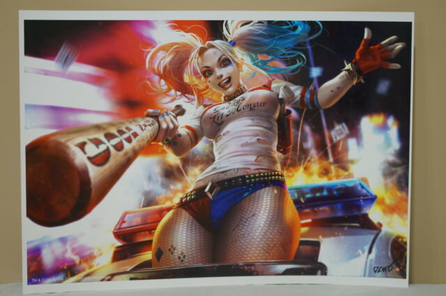 Suicide Squad DC Movie Poster Fabric 8x12 20x30 24x36 E-1341 Harley Quinn