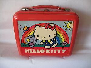 Sanrio-Hello-Kitty-Lunch-Box-w-Thermox-Aladdin-Vintage-Used-039-76-039-84