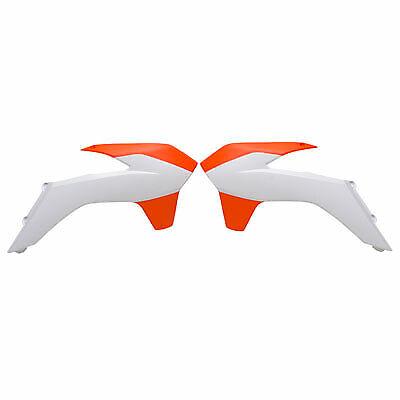Acerbis Radiator Scoops 16 KTM Orange//White for KTM On-Off Road Motorcycles