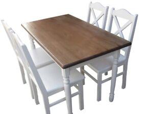 Tischkgruppe-Kiefer-Essgruppe-Sitzgruppe-Tisch-Set-NEU