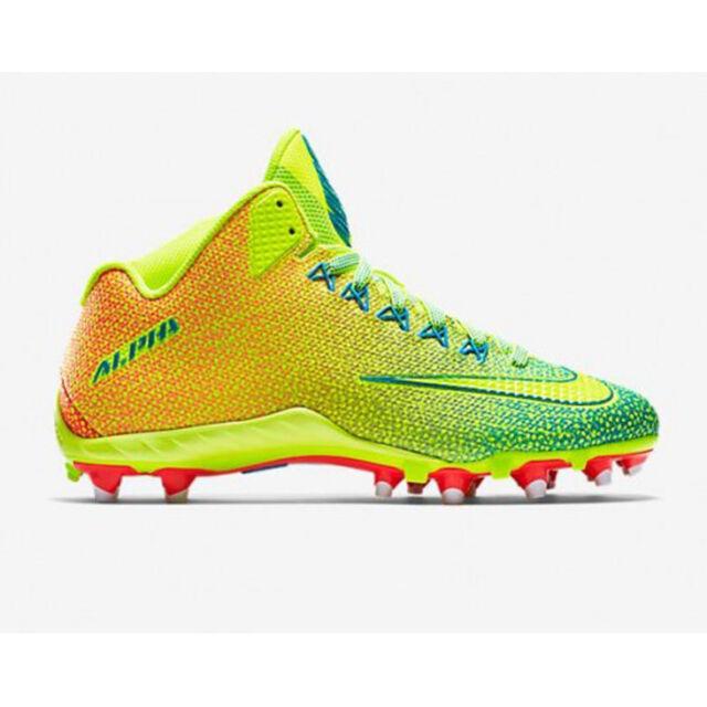 innovative design 7f793 402c2 NEW NIKE ALPHA PRO 2 3 4 TD PP Football Cleats NikeSkin MENS VOLT Bright