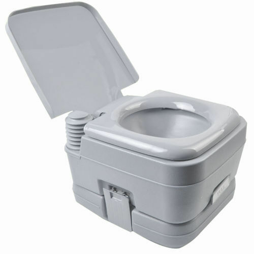 2.8 Gallon 10L Portable Toilet Travel Camping Outdoor Indoor Toilet Potty Flush
