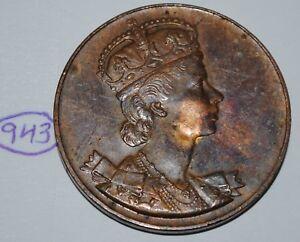 Canada-1953-Queen-Elizabeth-II-Coronation-Medal-Token-Lot-943