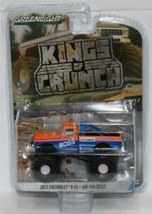 GREENLIGHT-1-64-Kings-of-Crunch-W3-1972-Chevrolet-K-10-Monster-Truck-AM-PM-Boss