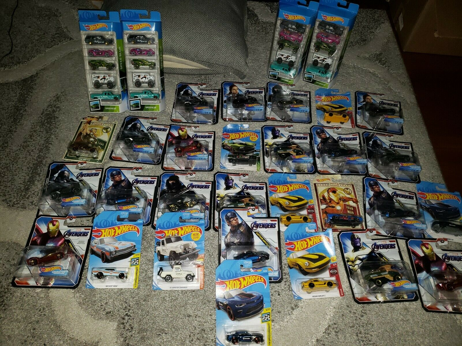 Hot wheels collection lot Marvel character cars Avengers and more