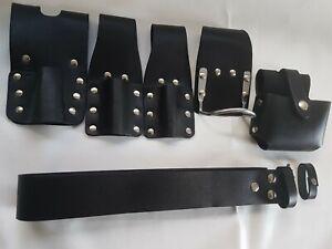 Scaffold-Black-Leather-Tools-Belt-6IN1-Tape-Level-Hammer-Holder-2-Spanner-Frog