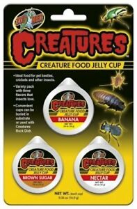 ZOO-MED-ECO-CREATURES-JELLY-FOOD-CUP-BANANA-NECTAR-BROWN-SUGAR-FREE-SHIP-TO-USA