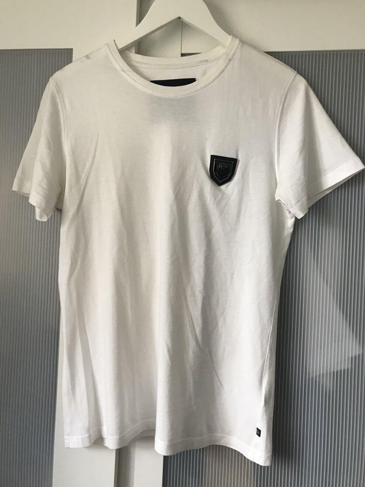 Philip PLEIN Uomini T Shirt Top Taglia M 100% AUTENTICO