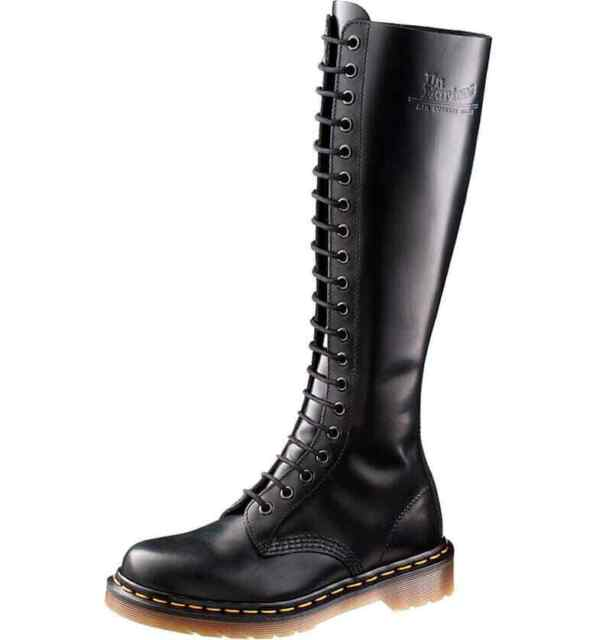 great fit professional sale authorized site Dr. Martens Women's 9663 20 Eye 1B60 Style Black Tall Boot US 8 EU 39 UK 6  Rare
