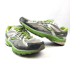 Brooks-Running-Shoes-GTS-13-Silver-Green-Athletic-Mens-Size-11-EUR-43