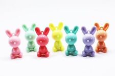 Rabbit Charm Plastic Pastel Candy Color 3D Animal Large Cute Pendant 40mm 20pcs