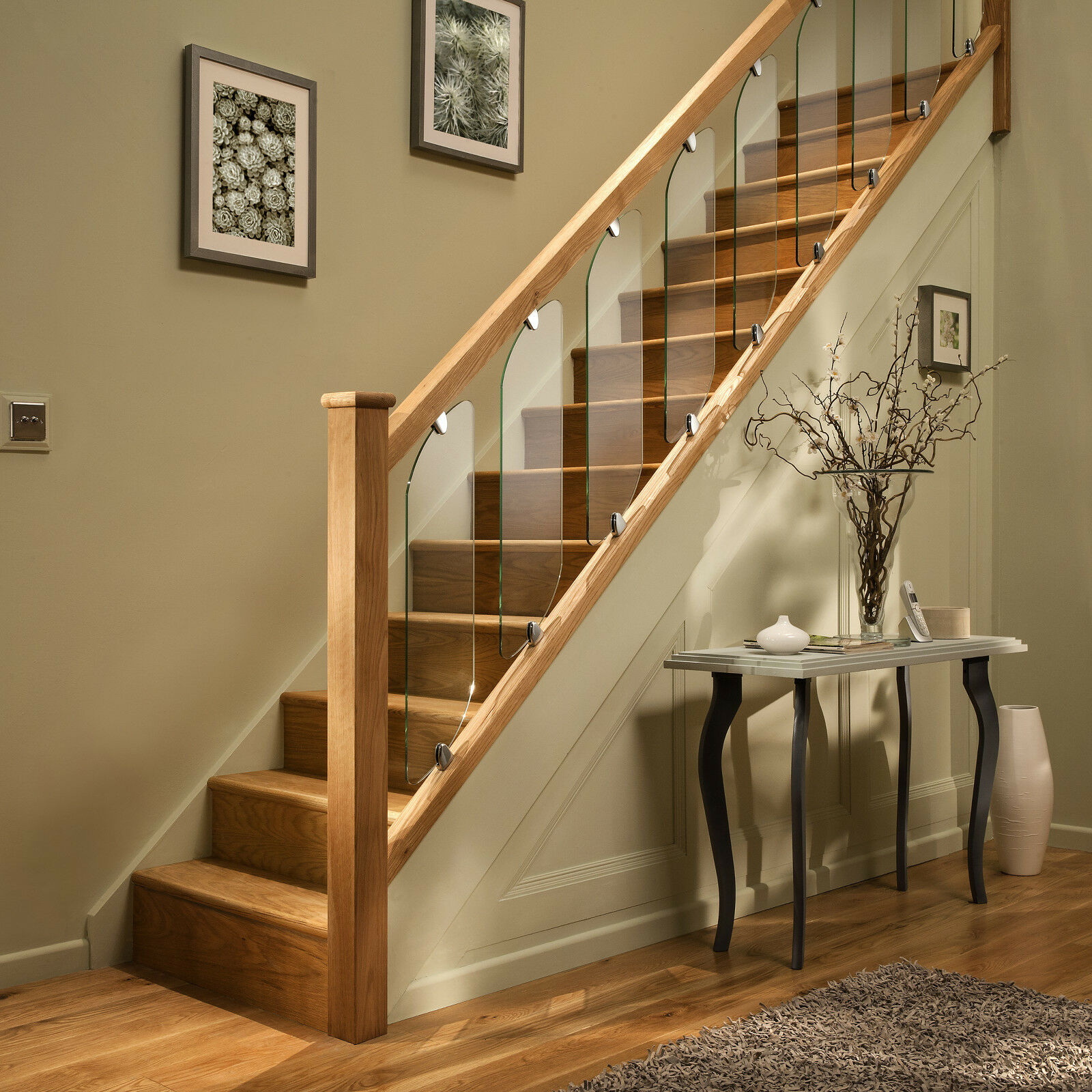 Staircases Stairways And Stairway: Axxys Clarity Glass Panels, Chrome Or Brushed Clamps Stair