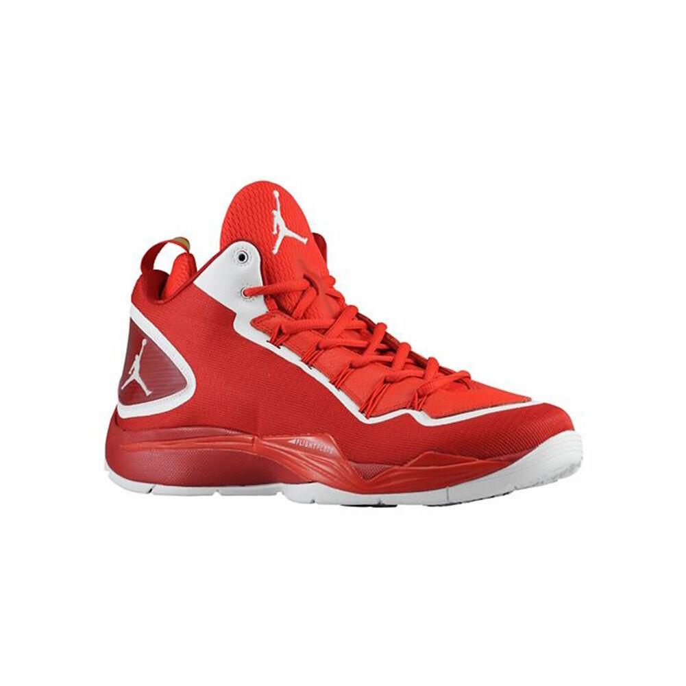 Nike Air Jordan Basketball shoes Super Fly 2 PO 645058-602 Gym Red White