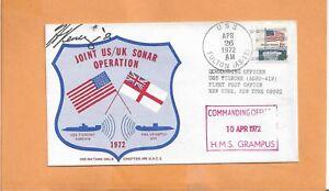 the latest 8fea8 4f27f Gb Sonar Operation Avr 26-1972 Signé Naval Housse  firrlUw5-08204834-690382884 U.S.S.Fulton Conjoint Us